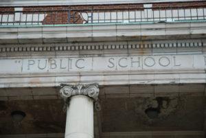Public School Stone Column
